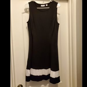 Knit fit and flare dress